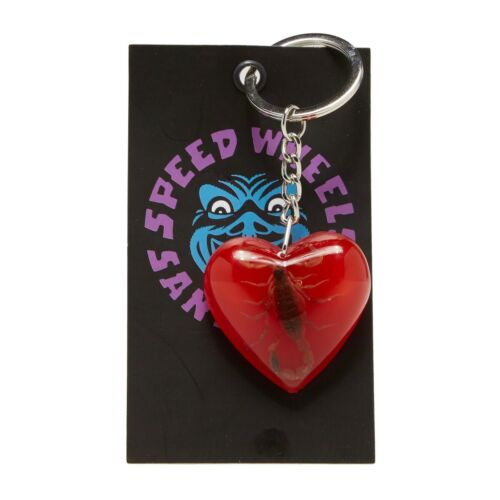 Santa Cruz Skateboards Poison Heart Keychain - Red - FREE SHIPPING!