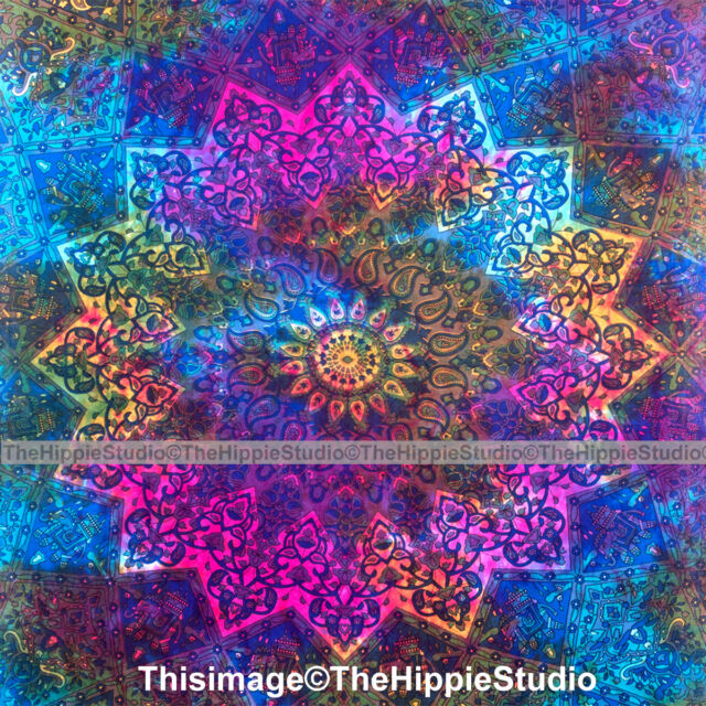 Tie Dye Star Hippie Tapestry mandala Psychedelic Wall Hanging Ethnic Tapestries