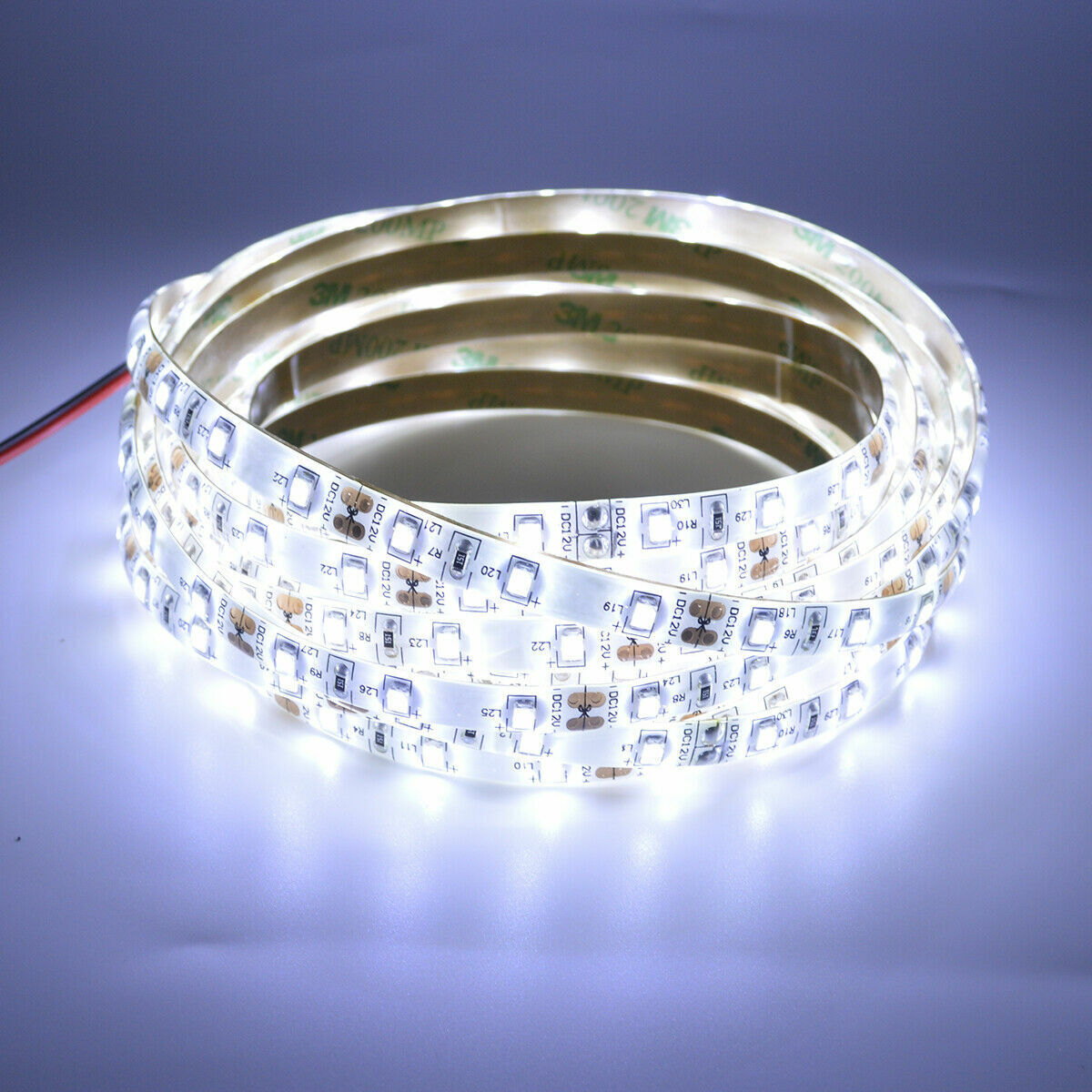 12V 16.4FT COOL WHITE LED 3528 SMD FLEXIBLE WIRE STRIP LIGHT ROPE WATERPROOF US Home & Garden