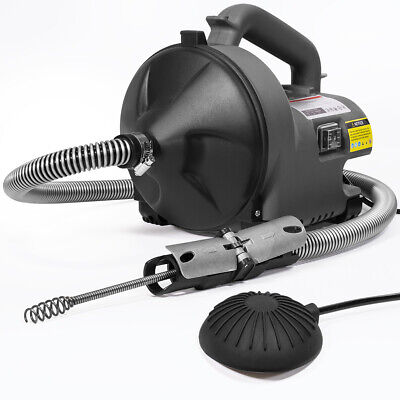 30 Ft Drain Snake Auger Machine Cleaner Clog Sink Autofeed W Foot Switch