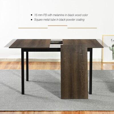 Modern Kitchen Extendable Dining Table Wooden Dinner Breakfast Meeting Furniture