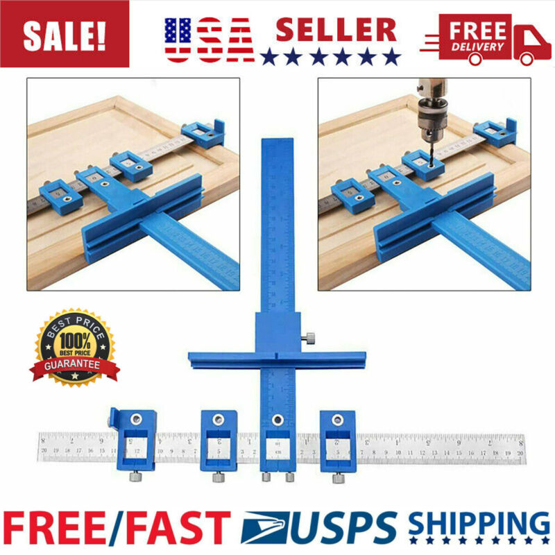 Punch Locator Drill Guide Sleeve Cabinet Hardware Jig Drawer  Pull  Wood  Dowel