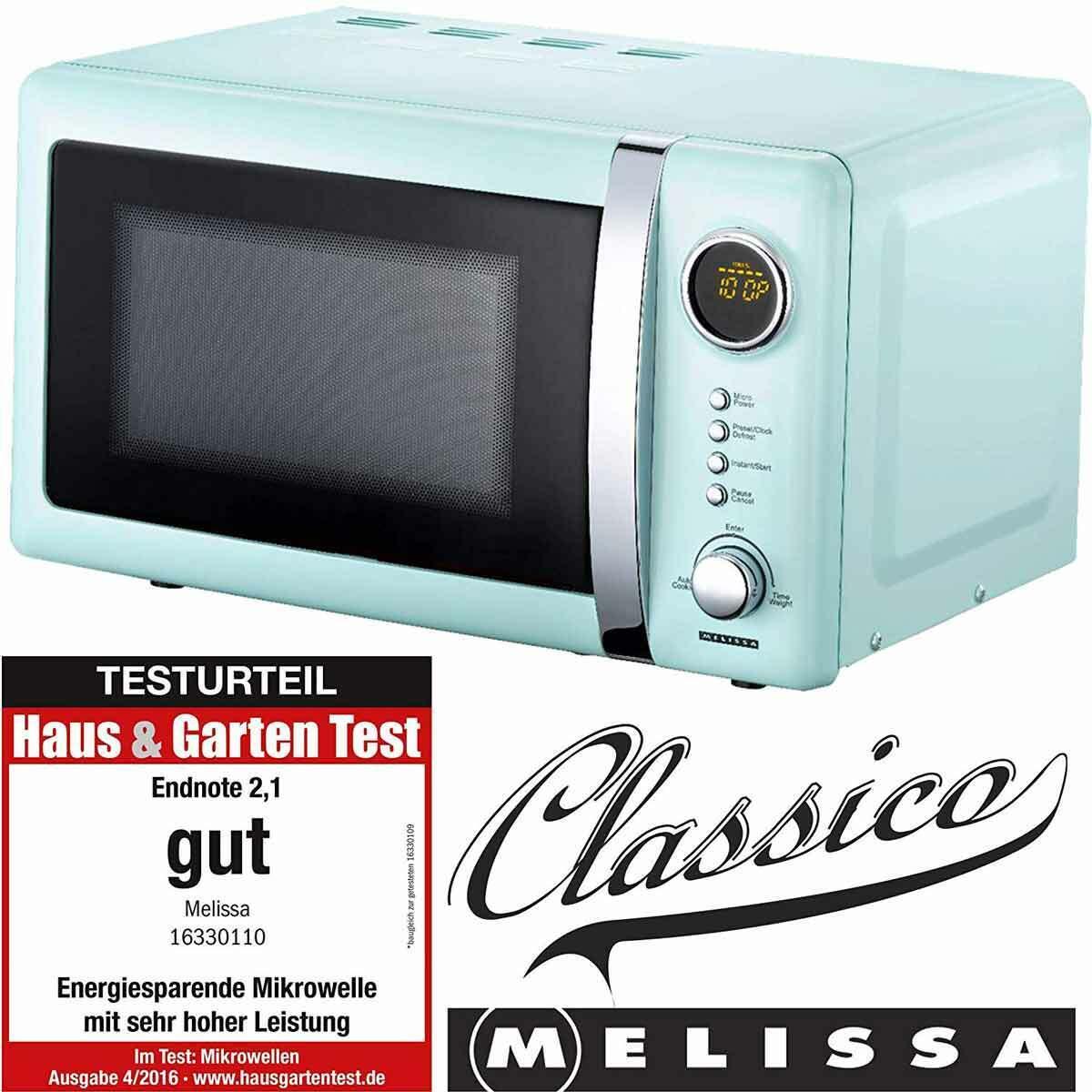Mikrowelle Retro Design Melissa 16330110 hellblau 20 Liter Mikrowellenherd