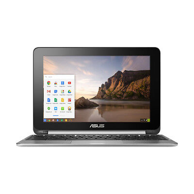 Asus Flip 2 In 1 10 1  Touchscreen Chromebook Rockchip 1 8Ghz Quad Core 2Gb 16Gb