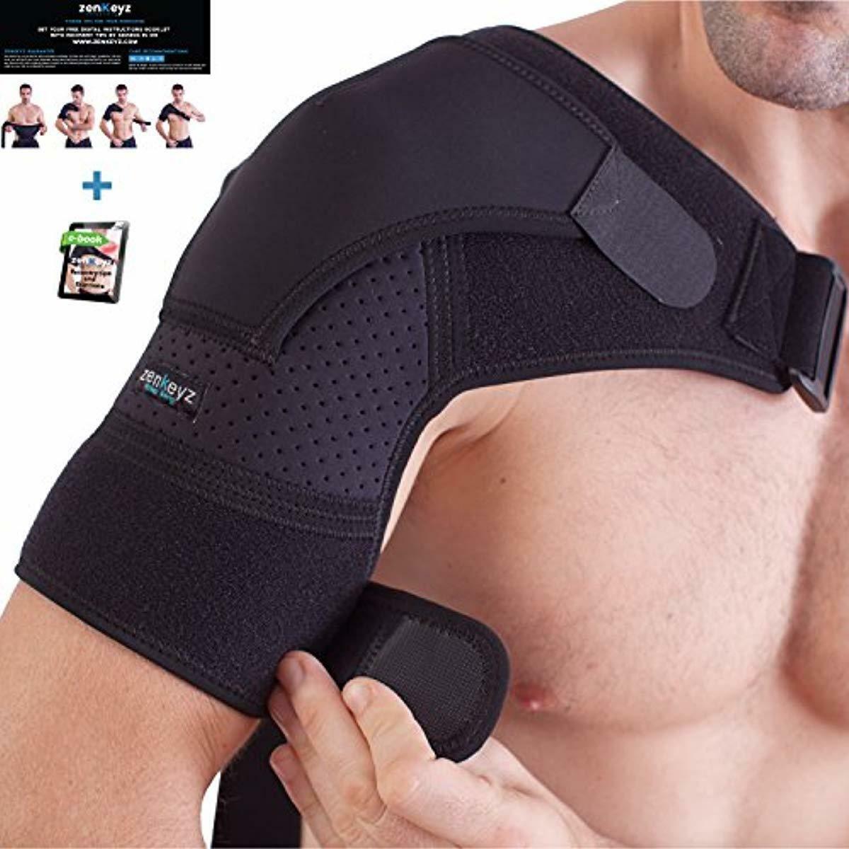 Shoulder Brace for Men and Women+ Bonus – for Torn Rotator