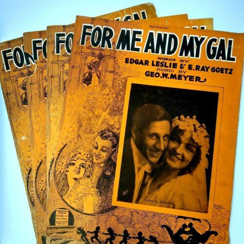 1917 For Me And My Girl 4 Variants Lot Leslie E. Ray Goetz Antique Sheet Music