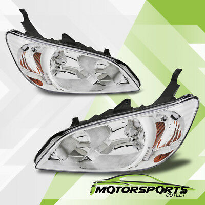 2004 2005 Honda Civic 2Dr/4Dr Chrome Factory Style Headlights Set