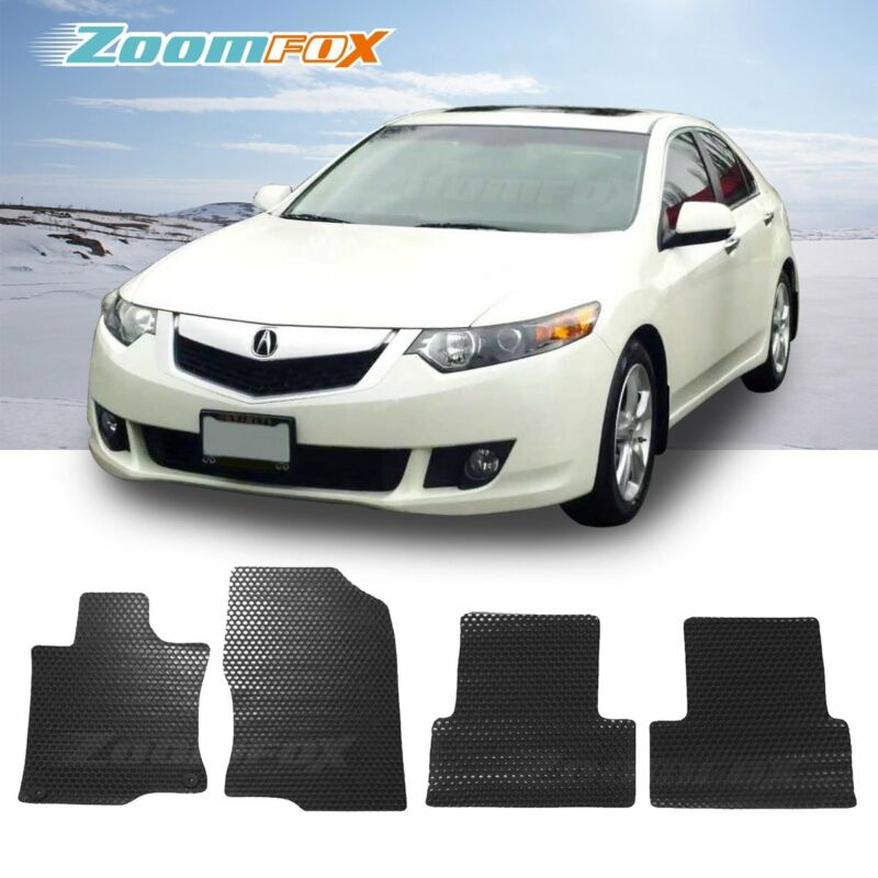 Fit 2009-2014 Acura TSX Black All Weather Floor Mats