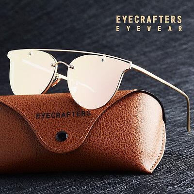 Womens Polarized Sunglasses Retro Fashion Designer Cat Eye Mirror Eyewear New