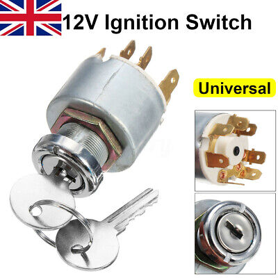 12V Universal Ignition Lock Switch Cylinder For Lucas SPB501 Car Boat  ^ /