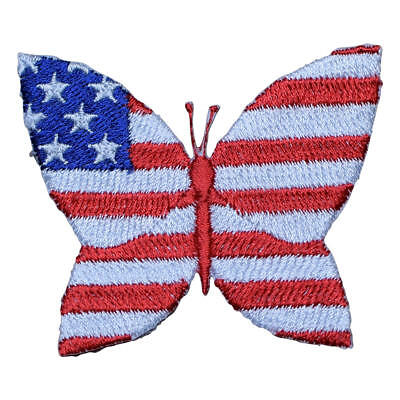 USA Theme Butterfly Applique Patch (Iron on)