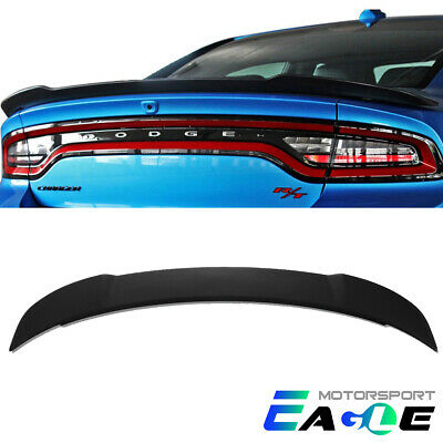 For 2011-2018 Dodge Charger  Hellcat Style ABS Black Matte Trunk Spoiler