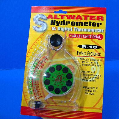 Saltwater Hydrometer & Digital Thermomete - Aquarium Marine Reef Fish Tank Test