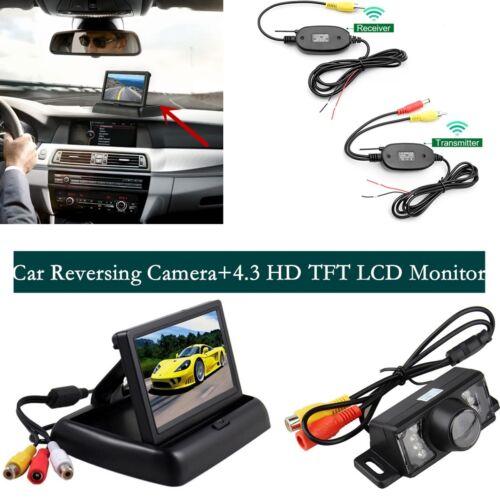 Wireless Car Reversing Rear View Kit Night Vision Camera +  4.3