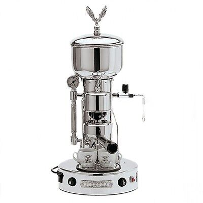 Elektra Semiautomatica Microcasa Espresso Cappuccino Machine Chrome 220v