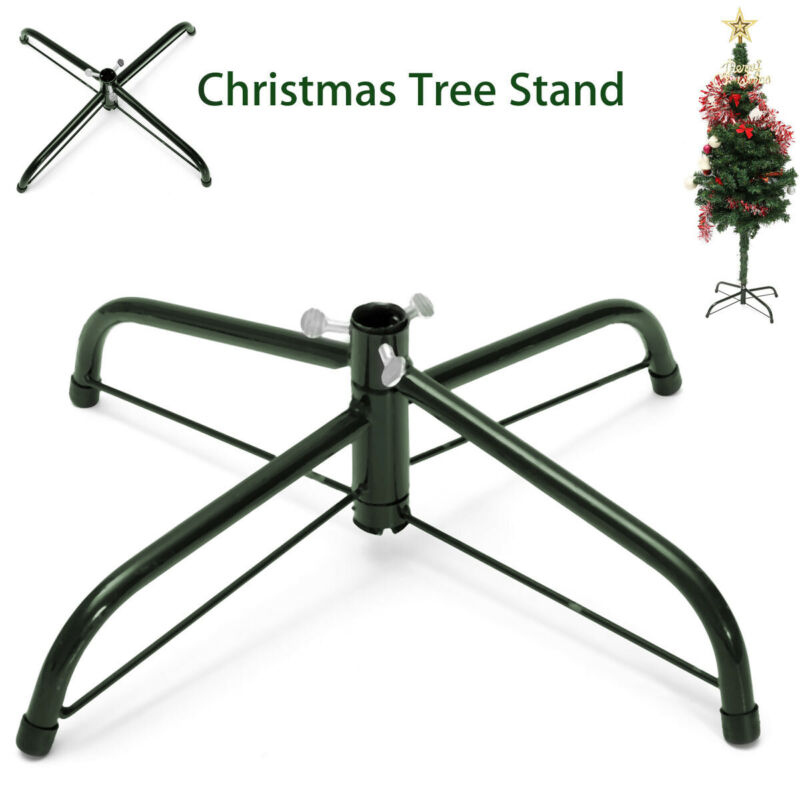 5Ft Christmas Tree Stand Green Metal Holder Mount Base Cast Iron Stand Ornament