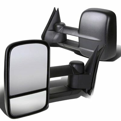 Left+Right 1988-1998 Chevy/GMC C/K 1500 2500 Telescoping Tow Manual Side Mirrors