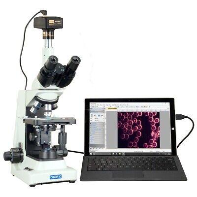 Omax 40x-2000x 14mp Digital Darkfield Led Plan Trinocular Compound Microscope