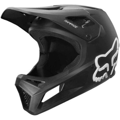 NEW Fox Racing Rampage Downhill MTB Bicycle Helmet Flat Matte Black/White Large