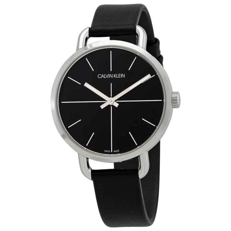Calvin Klein Even Quartz Black Dial Ladies Watch K7B231CZ