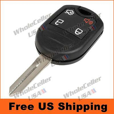 New Uncut Remote Head Ignition Key Keyless Entry Combo Transmitter Fob - 4 Btn