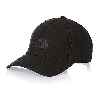 The North Face Mens Logo Classic 66 Cap Baseball Hat Black BNWT One Size TNF