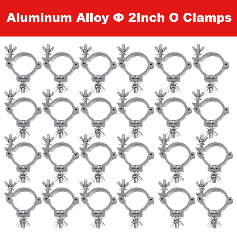 24PCS Stage Light Clamp 220LB Truss Clamp for Par Lighting O Clamp Fit 48-51mm
