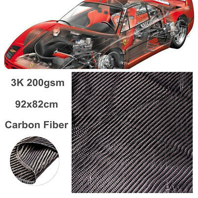 Black Carbon Fiber Cloth Fabric 200gsm 200x200cm 3k Weave Twill Car Bicycle