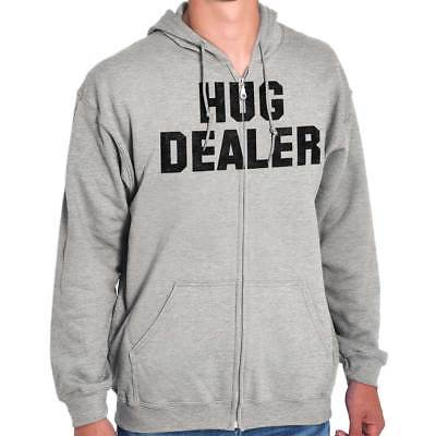 Hug Dealer Funny Personality Novelty Graphic Zipper Sweat Shirt Zip Sweatshirt