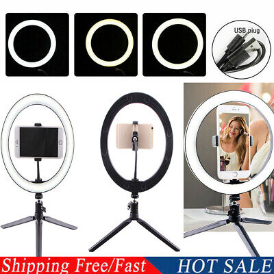 LED Ring Light Video Studio Photo Dimmable Lamp Tripod Stand Selfie Camera Phone - Led Ring