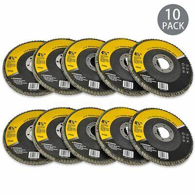 10-pack 80 Grit Flap Sanding Grinding Disc 4-12 X 78 Aluminum Oxide Kit
