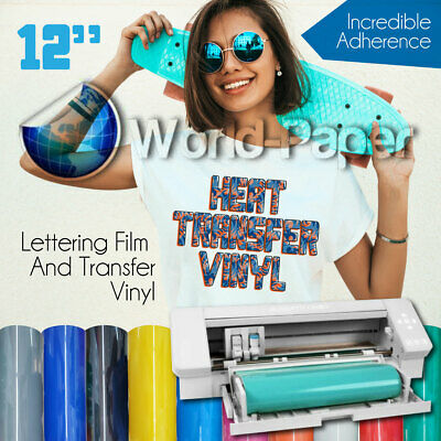 12x5ft Htv Heat Transfer Vinyl Roll Pu Lettering Film Iron On Textile Black