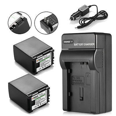 DBK 2 Pack Bp-827 Battery+charger For Canon Vixia Hg20 Hg...