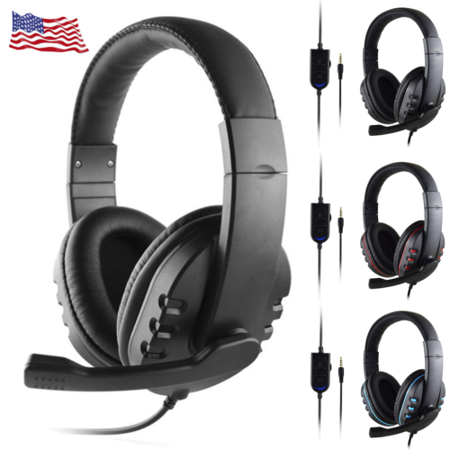Wired Handsfree Earphone Gaming Headset Stero With Mic For P