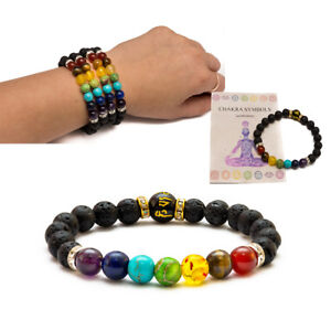 7 Chakra Christal Stones Bracelet. Healing Beads Jewellery. Natural Reiki gift