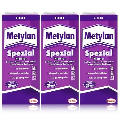 Henkel Metylan Spezial Tapetenkleister mit extra Power 200g ( 3er Pack )