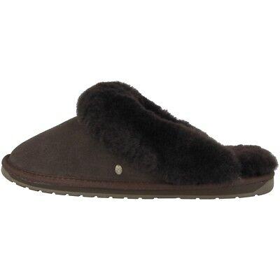 EMU Australia Jolie W Schuhe Hausschuhe Damen Slipper chocolate W10015-E011