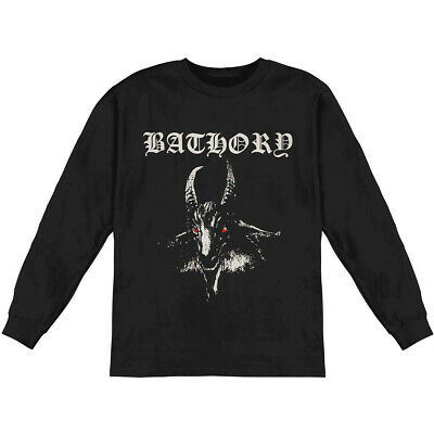 Authentic BATHORY White Goat Album Cover Long Sleeve T-Shirt S M L XL 2XL NEW Album White T-shirt