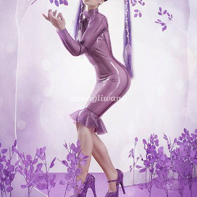 men Mermaid Skirt Gummi Lady Evening Dress Size XS-XXL (Mermaid Latex)