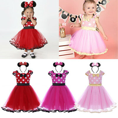 Baby Kid Girl Minnie Mouse Book Week Costume Tutu Fancy Dress for Birthday Party - Costume Book