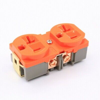 20pcs King Snake 20a Brass Plated Purple Copper Us Standard Power Supply Socket