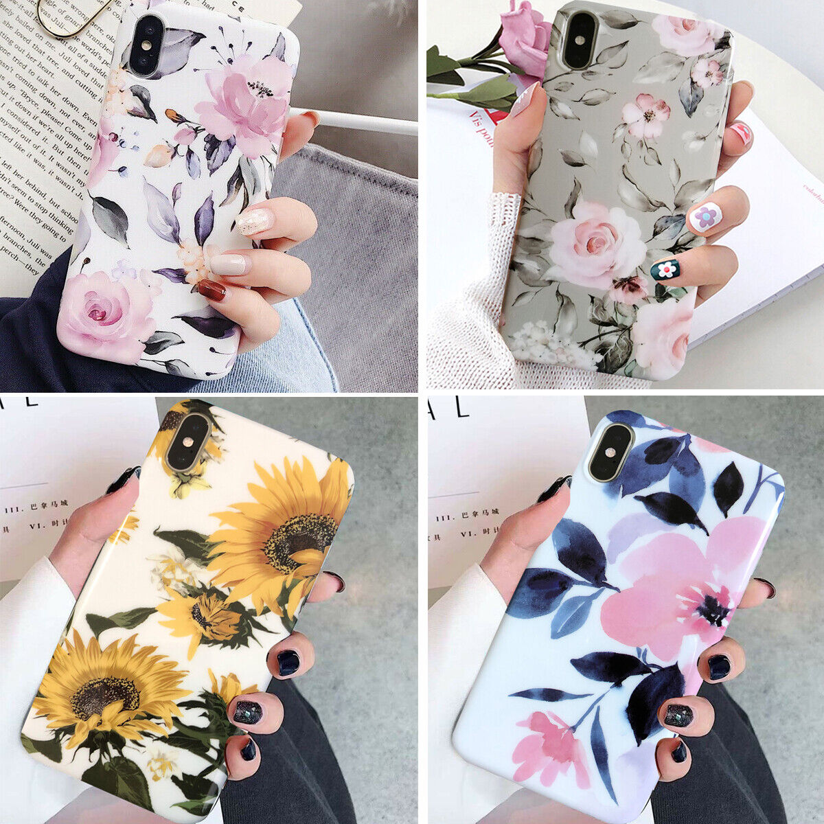 Iphone 11 Pro Max 8 Plus 7 6 XS XR Shockproof Flower Cute Gi