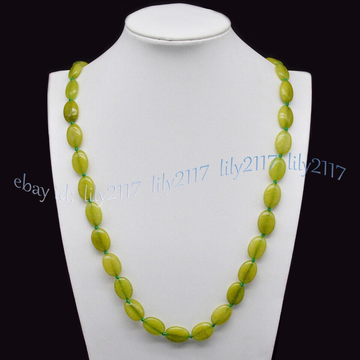 "natural aquamarine Flat Oval Gemstone Beads Necklace 13x18mm 22/"" Pretty"