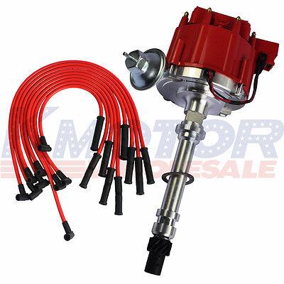 10.5MM Red 90 Spark Plug Wires and Distributor For SBC BBC 350 305 454 V8's HEI comprar usado  Enviando para Brazil