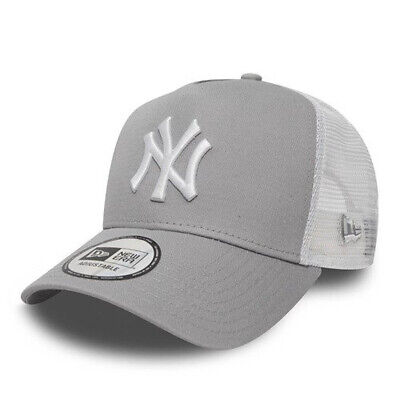 NEW ERA MEN BASEBALL CAP.MLB NEW YORK YANKEES CLEAN A FRAME MESH TRUCKER HAT 490