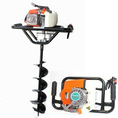63cc One Man Gas 2.5hp Post Fence Hole Earth Auger Machine W6 X 33 Drill Bit