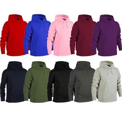 Unisex Heavy Blend Plain Hoody Mens Womens Hooded Sweatshirt Hoodie Top