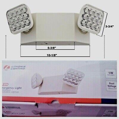 Lithonia Lighting Eu2c M6 Led 2-light White Led Emergency Fixture Warranty 5 Yea