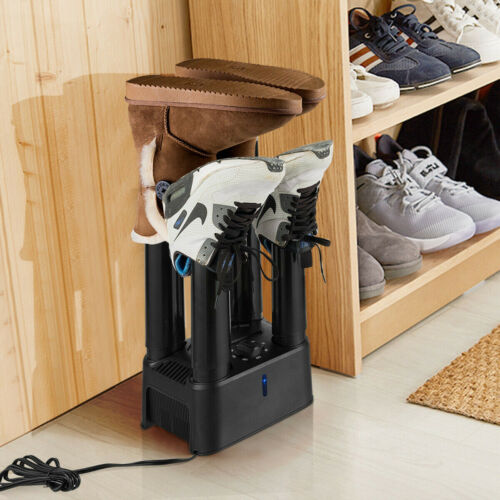 Electric 4 Shoe Boot Glove Dryer with Timer and Fan Prevent