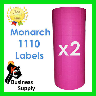 Monarch 1110 Pink Labels For One Line Label Price Gun - 2 Sleeves Ink Included